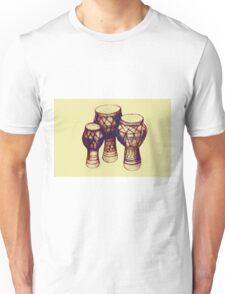 Sketch of African drums. Illustration Unisex T-Shirt