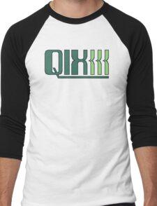 Qix (Game Boy Title Screen) Men's Baseball ¾ T-Shirt