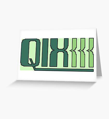 Qix (Game Boy Title Screen) Greeting Card