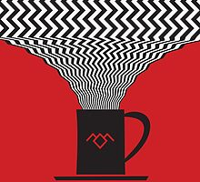 Damn Good Coffee | Twin Peaks Poster by Dean Sauls