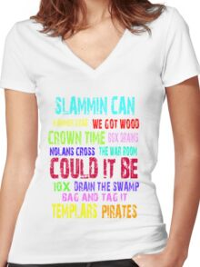 Slammin Can Colour Women's Fitted V-Neck T-Shirt