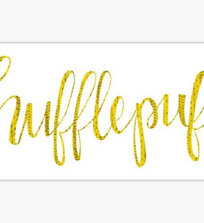 Hufflepuff Cursive Sticker