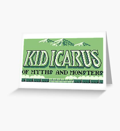 Kid Icarus Of Myths and Monsters (Game Boy) Greeting Card