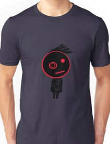 black and red Unisex T-Shirt