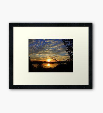 Inch Island Evening Sky......................Ireland Framed Print