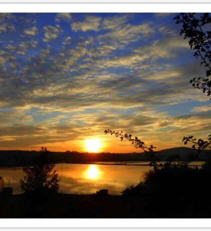 Inch Island Evening Sky......................Ireland Sticker