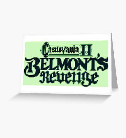 Castlevania II Belmont's Revenge (Game Boy) Greeting Card
