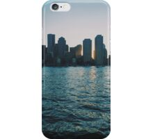 Sunset at harbour iPhone Case/Skin