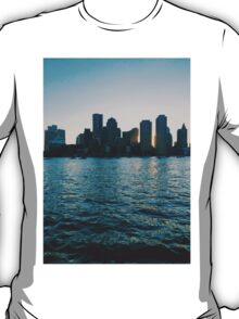 Sunset at harbour T-Shirt