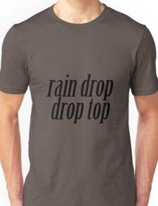 Rain Drop Drop Top Sticker Unisex T-Shirt