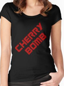 Cherry Bomb.!. Women's Fitted Scoop T-Shirt