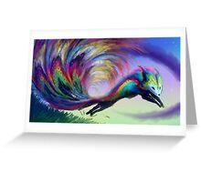 Peafox Greeting Card