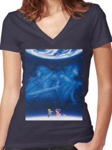 Illusion of Gaia Women's Fitted V-Neck T-Shirt