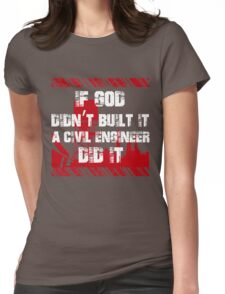 Grunge Style Civil Engineers Womens Fitted T-Shirt