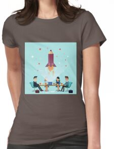 Business Project Startup Concept Design Womens Fitted T-Shirt
