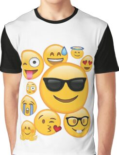 Emoji Pack ComboT-shirt Emoticon Smily Face Tshirt Graphic T-Shirt