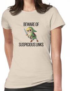 Beware of Suspicious Links (Zelda) Womens Fitted T-Shirt