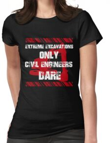 Grunge Civil Engineers Womens Fitted T-Shirt