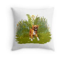 Boxer Puppy, tote, pillow Throw Pillow