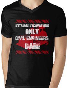 Grunge Style Engineer Mens V-Neck T-Shirt
