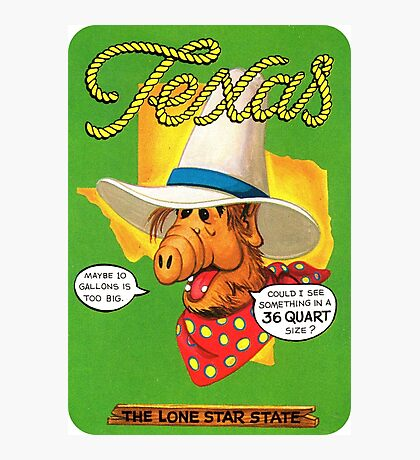 Texas TX United States of ALF Travel Decal Photographic Print