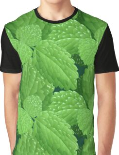 Seamless pattern with mint leves drawn in realistic style   Graphic T-Shirt