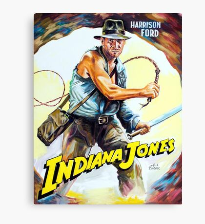 Harrison Ford Indiana Jones painting movie poster Canvas Print