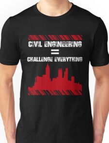 Grunge Style Typography Civil Engineers Unisex T-Shirt