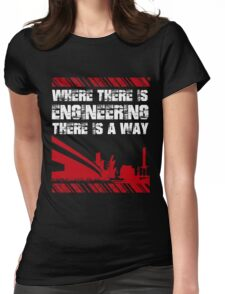 Grunge Style Engineer Womens Fitted T-Shirt