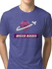 Lavender and Pink Classic Space LOGO Tri-blend T-Shirt