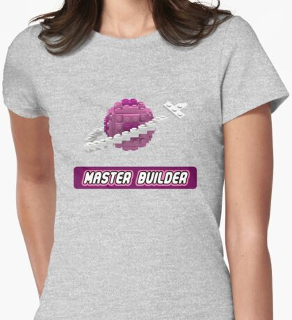 Lavender and Pink Classic Space LOGO Womens Fitted T-Shirt