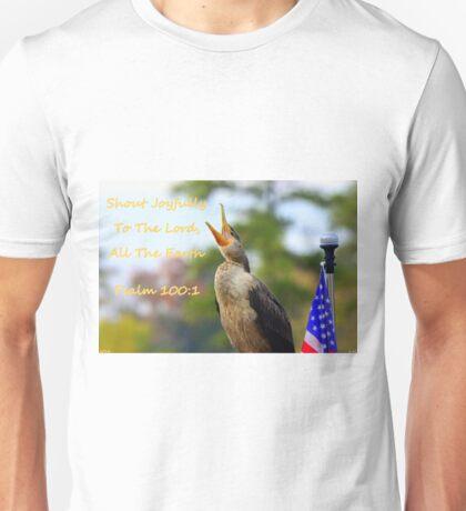 Cormorant Psalm100:1 Unisex T-Shirt