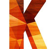 Letter K - Wood by TabithaBianca