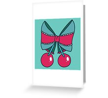 Cherry Bow Greeting Card
