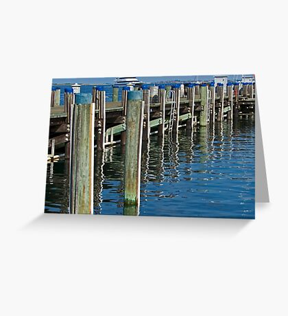 Dockside Reflections Greeting Card