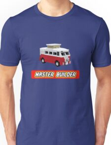 MicroBus Hippy Camper Van Master Builder Graphic for Expert Builders Unisex T-Shirt