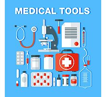 Medical Tools Icons Set. Health Care Stuff Photographic Print