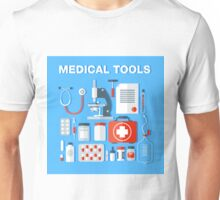 Medical Tools Icons Set. Health Care Stuff Unisex T-Shirt