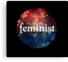 Galaxy Feminist Design Canvas Print