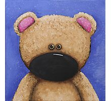 Teddy Bear in Blue Photographic Print