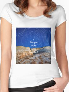 I Love You To The Moon  Women's Fitted Scoop T-Shirt