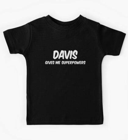 Davis Funny Superpowers T-shirt Kids Tee