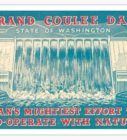 Grand Coulee Dam Washington Vintage Travel Decal Sticker