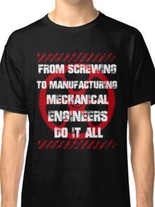 Grunge Typography Mechanical Engineer Classic T-Shirt