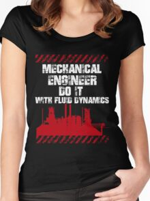 Typography Mechanical Engineer Women's Fitted Scoop T-Shirt