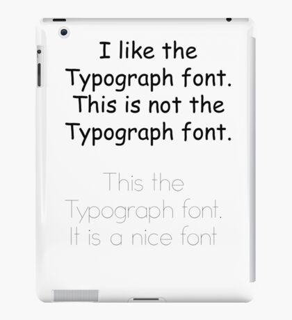 I Like This font iPad Case/Skin