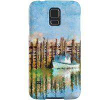 Margaretsville Wharf - watercolour Samsung Galaxy Case/Skin