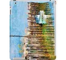 Margaretsville Wharf - watercolour iPad Case/Skin