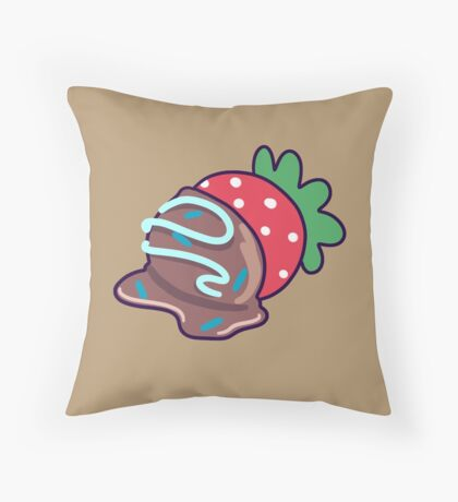 Chocolate Covered Strawberry Throw Pillow