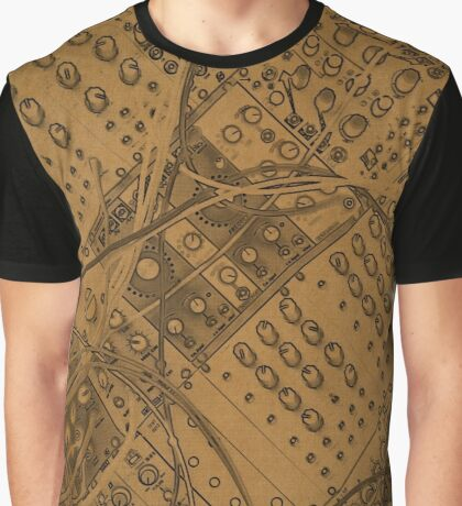 analog synthesizer  illustration - Brown Graphic T-Shirt